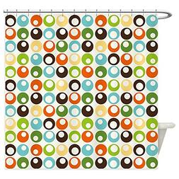 CafePress - Retro Mod Abstract Circles - Decorative Fabric S