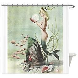 CafePress Retro Pin Up 1950S Mermaid With School Of Fish Sho