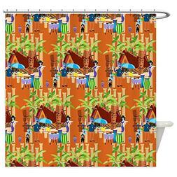 CafePress - Tiki Time Shower Curtain - Decorative Fabric Sho