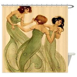 CafePress - Vintage French Art Deco Dancing Girls Shower Cur