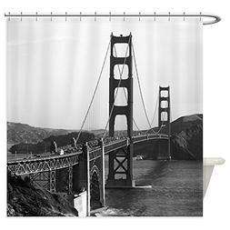 CafePress - Vintage Golden Gate Bridge - Decorative Fabric S