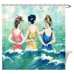 CafePress - Vintage Victorian Women Seashore - Decorative Fa
