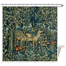 CafePress William Morris Greenery Decorative Fabric Shower C