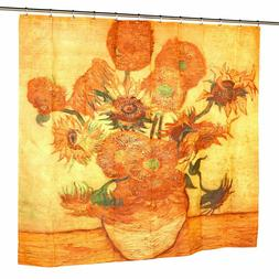 Carnation Home Fashions Sunflowers Fabric Shower Curtain, 72