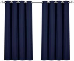 Curtains Blackout Room Darkening Grommet Window Panel Drapes