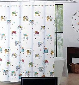 Cynthia Rowley Indian Elephant Fabric Shower Curtain 72-Inch
