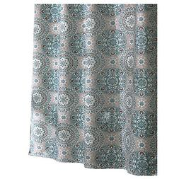 Ex-Cell Carthe Fabric Shower Curtain, 70 by 72-Inch, Turquoi