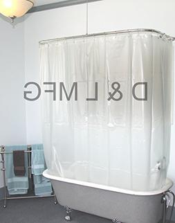 Extra Wide Vinyl Shower Curtain for a Clawfoot Tub/opaque Wi