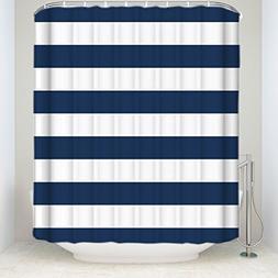 Fabric Shower Curtain: Nautical Stripe Design