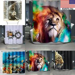 Fabric Waterproof Bathroom Shower Curtain Panel Sheer Decor