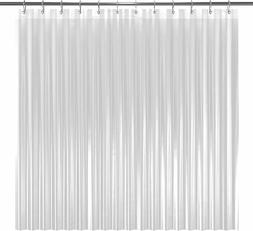 LiBa Mildew Resistant Anti Bacterial PEVA 8G Shower Curtain