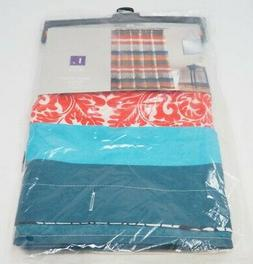 "Lush Decor Boho Stripe Shower Curtain, 72 x 72"", Turquoise/O"