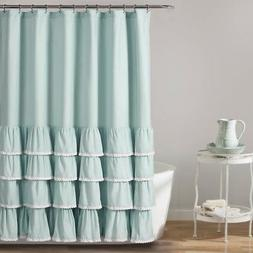 Lush Decor Ella Ruffle Shower Curtain