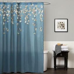 Lush Decor Flower Drops Shower Curtain, 72 by 72-Inch, Feder