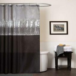 Lush Decor Night Sky Shower Curtain, 72-Inch by 72-Inch, Bla