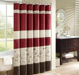 Madison Park MP70-644 Shower Curtain, 72x72, Ivory
