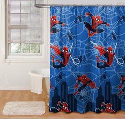 Marvel Spiderman Hero Microfiber Shower Curtain