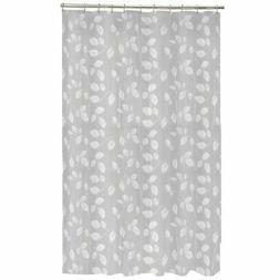 Maytex Mills 60090 Just Leaves  Shower Curtain,  White