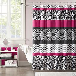 Mi-Zone Mizone MZ70-350 Reagan Microfiber Shower Curtain 72x