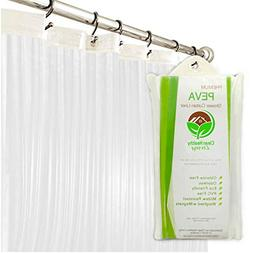 Premium PEVA Shower Liner/Curtain: Odorless & Mildew Resista