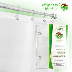 Premium PEVA Shower Liner / Curtain: Odorless & Mildew Resis