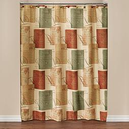 SKL Home Tranquility Shower Curtain, Spice