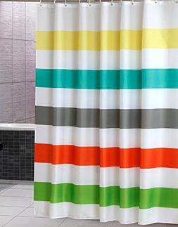 Uphome Colorful Rainbow Cross Stripe Pattern Bathroom Shower