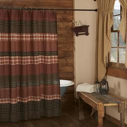 VHC Brands 17933 Beckham Shower Curtain 72x72, 72 x 72