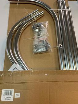 Zenna Home 34941SS, NeverRust Aluminum Hoop Shower Curtain R