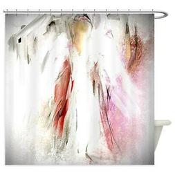 CafePress Abstract Angel In White Shower Curtain