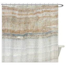 CafePress Abstract Chic White Marble Shower Curtain