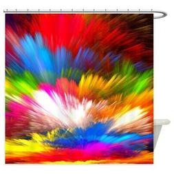 CafePress Abstract Clouds Decorative Fabric Shower Curtain