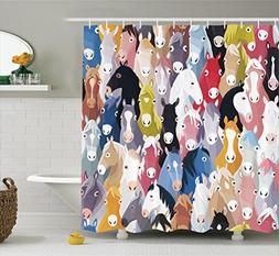 Ambesonne Abstract Home Decor Collection, Pattern with Colou