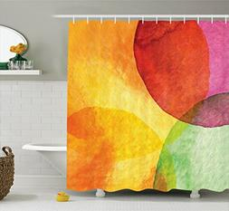 Ambesonne Abstract Shower Curtain, Abstract Watercolor Paint