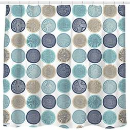 Sunlit Abstract Tree Rings Woody Artistic Fabric Shower Curt