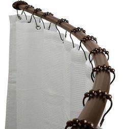 Adjustable Curved Shower Curtain Rod Bath Accessory, Oil R