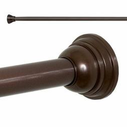 "Adjustable Decorative 43"" - 72"" Tension Shower Curtain Rod,"