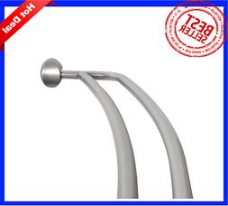 Adjustable Double Curved Shower Curtain Rod Crescent Bathtub