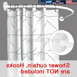 adjustable stainless steel curved shower curtain rod