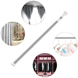 KHTD Adjustable Tension Rod 43X78, Extenable Shower curtain