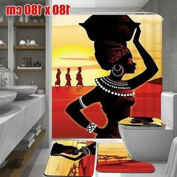 African Bathroom Sets With Shower Curtain And Rugs And Acces