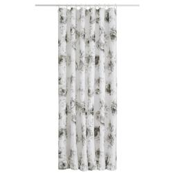 """Ikea AGGERSUND Shower Curtain Rose Floral Gray/White 71"""" x 7"""