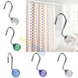 AGPtek 12PCS Shower Curtain Hooks Fashion Elegant Decorative