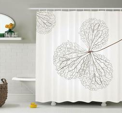 Ambesonne Flower Decor Shower Curtain, Abstract Cotton Flora