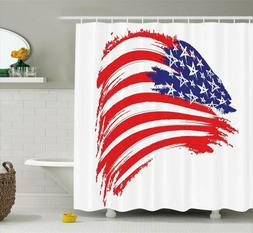 Ambesonne American Flag Decor Shower Curtain by, Sketchy Bru