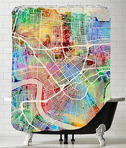 "American Flat ""New Orleans Street Map New 3"" Art Pause Showe"