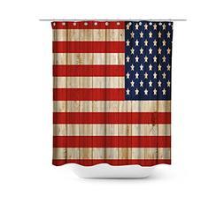 """Original American USA Flag Shower Curtain Set, 72"""" x 72"""" Dec"""