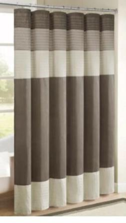 Madison Park Amherst 54 in. X 78 in. Shower Curtain in Natur
