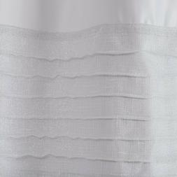 """Amherst Metallic Pieced Shower Curtain White 72"""" x 72"""""""