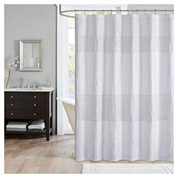 JLA Home INC Amherst Metallic Pieced Shower Curtain White 72